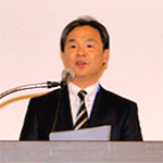 総会議長の上野泰正 専務理事